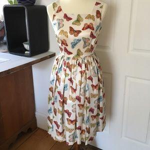 100% Silk Banana Republic Butterfly Dress